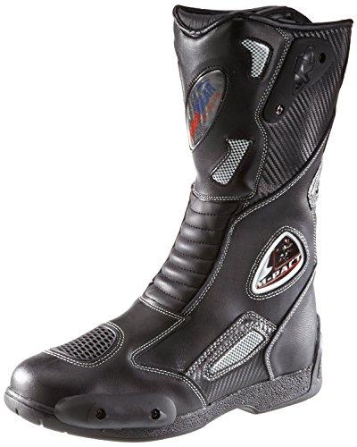 Protectwear SB-03203-37 Motorradstiefel, Allroundstiefel, Sportstiefel aus Leder, Größe 37, Schwarz