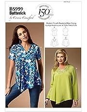 Butterick Patterns 5999 WMN - Patrones de Costuras de Blusas para Mujer (Tallas Grandes), Multicolor
