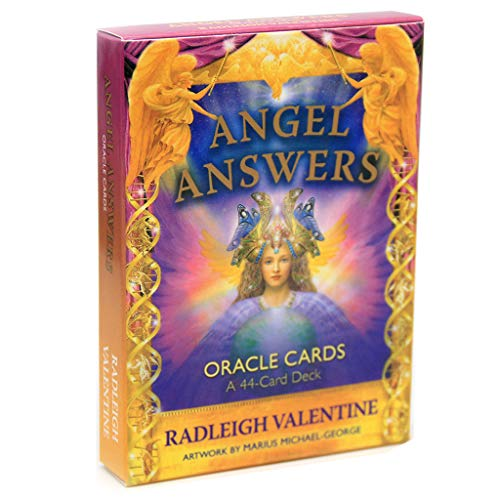 WE-WHLL Angel Answers Tarots 44 Oracle Cards Deck Full English Mysterious Adivination Familia Amigo Fiesta Juego de Mesa