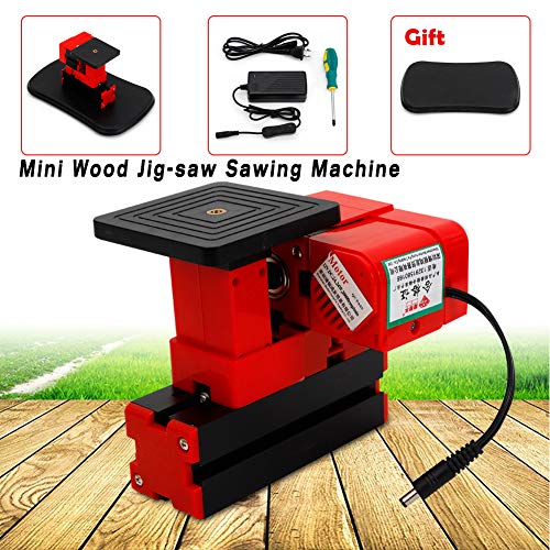 For Sale! Sawing Machine, TBVECHI Portable 24W Mini Wood Jig-saw Sawing Machine DIY Woodworking Mode...