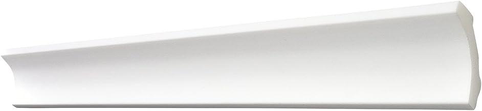 blanc Moulure en Stuc Professionnel Dur Blanc Lisse Marbet 22x25mm E-3 10 Bandes 20 Meter