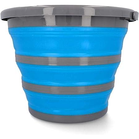 Cartrend 10731 Seau à Eau Pliable de 10 litres avec Bec verseur, poignée de Transport, 1 pièce, Bleu, 10 Liter