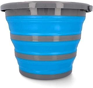 CARTREND 10731 10 liter vattenhink vikbar hink hushållshink campinghink med hink hinkar, bärhandtag, vikbar 1 st.