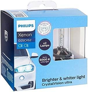 Philips 85122CVS2 D2S CrystalVision ultra Authentic Xenon HID Headlight Bulb, 2 Pack