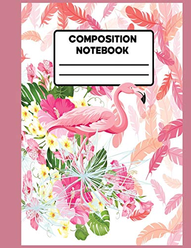 Composition Notebook: Water Colour Cute Pink Flamingo Composition Preschoolkindergarten Collage Rulled Notebook Journal For Kids,Girls| Wide Ruled Composition Note Book ,(School Note Book Wide Rulled)