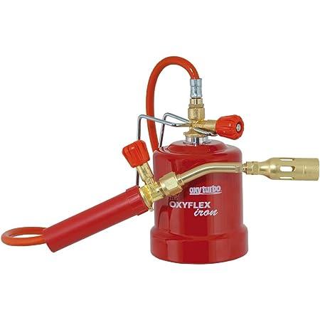 Kit soldador móvil profesional soplete gas butano Oxyflex Iron con porta cartucho de metal, monogas para pequeños trabajos de soldadura dulce y ...