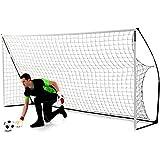 QuickPlay Kickster - Portería de fútbol portátil (12 x 6 pies)