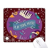 電気ピアノ音楽のヘッドセットの音 オフィス用雪ゴムマウスパッド