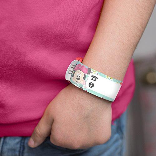 Bracelet d'identification enfant Disney Minnie par Ludilabel | Réutilisable et résistant | Haute Qualité Fabrication 100% Française