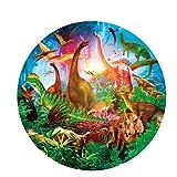 CYBERNOVA 1000 Piezas Rompecabezas Redondos Dinosaur World Intellectual Game para Adultos