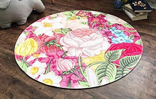 Interessant Zhoumei tapijten tapijten for kinderen tapijten round polyester lounge stoel woonkamer slaapkamer slaapbank edge non-slip mat Baby kinderbox (Size : Diameter 160cm)