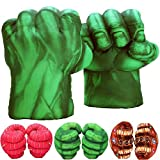 Incredible HOK Superheros Gauntlet Smash Hands Fists Big Soft Plush Gloves Pair Costume Green