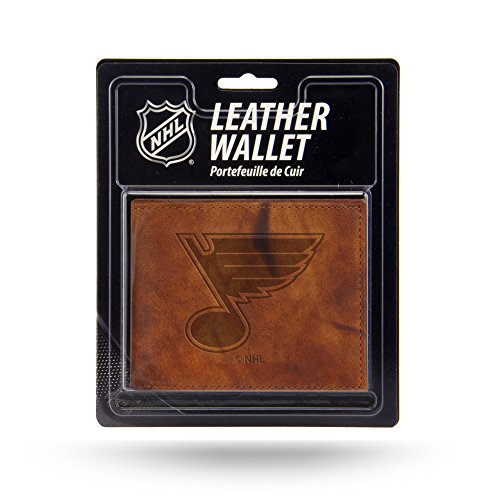 NHL Rico Industries  Embossed Leather Billfold Wallet with Man Made Interior, St. Louis Blues
