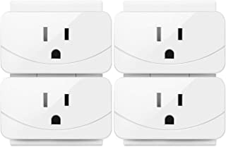 Enther Smart Plug,Mini Wifi Smart Outlet 1 Pack, smart socket that Works with Amazon Alexa ,Remote Control Your Devices from Anywhere, No Hub Required, ETL and FCC Listed, White