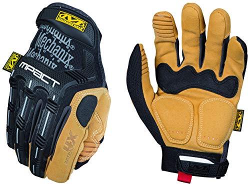 Mechanix MP4X-75-011 Wear Material4X M-Pact Handschuhe (X-Large, Braun Hochleistungshandschuhe mit Stoßschutz, Schwarz-Honig, XL