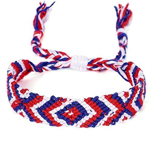 Pulsera ZIYUYANG, pulseras multicolores de la amistad tejidas a mano para mujeres y hombres con nudos de cordón, regalos de joyería hechos a mano AntiqueCopperPlated