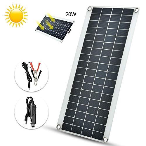 A sixx Mono Solarpanel, 8 W Neues Flexibles polykristallines Solarpanel-Ladegerät Wasserdichtes Solarpanel-Solarmodul-Kit für den Außenbereich