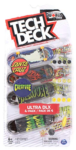 Mini Fingerboards Santa Cruz and Creature Skateboards 2019 Ultra DLX Deck 4 Pack World Edition Limited Series