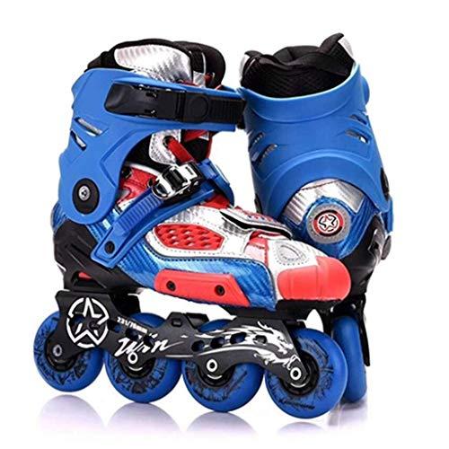 Roller Skates, Schlittschuhe, Bremsschuhe, Erwachsene Roller Skates, Profi-Bremsschuhe, Männer und Frauen Inline Skates, flache Schuhe (Farbe: Blau, Größe: 42) dongdong ( Color : Blue , Size : 42 )