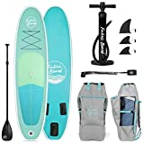 Fabricboard 10 inches Inflatable Stand Up Paddle Board, All Accessories (Seaweed Green)