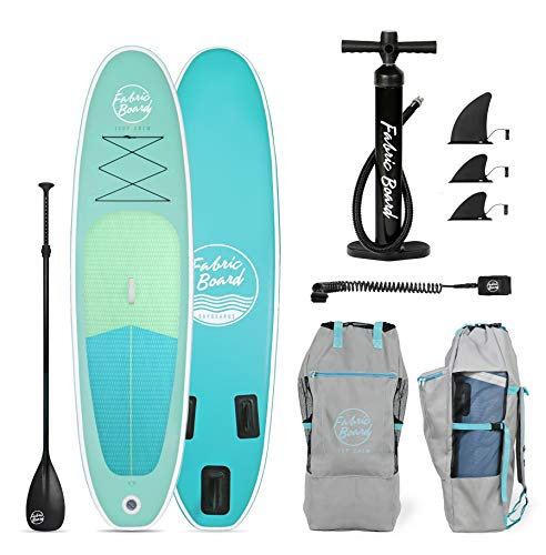 FabricBoard Paddle Surf Hinchable, Unisex-Adult, Algas Verdes, Large