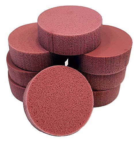 PolySound Sylo High-End Lautsprecher Füße, Schwingungsdämpfer 8er Set rosa 11-23kg - materialschonend mit Wasser geschnitten - Nicht gestanzt - Made in Germany