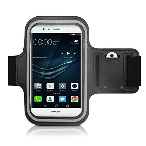 CoverKingz Armtasche für Huawei P9 Lite Sportarmband mit Schlüsselfach, Laufarmband, Sport Handyhülle, Handy Armband Schwarz