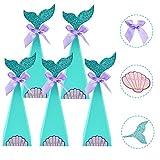AFASOES 40 Pcs Caja de Dulces Navideñas Niños Sirena Cajitas Navidad para Chuches Cajas para Dulces de Carton Cajitas de Golosinas Cajitas de Caramelos Cajitas de Papel para Infantiles Cumpleaños