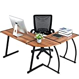 GreenForest L Shaped Corner Desk for Home Office Computer PC Table Workstation 3-Piece for Gaming...