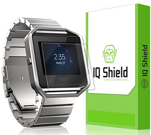IQ Shield Screen Protector Compatible with Fitbit Blaze (6-Pack)(Easy to Install) Anti-Bubble Clear Film
