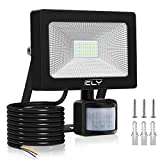 CLY LED Floodlight, 20W Security Lights with PIR Sensor, 2000 Lumen IP66 Waterproof
