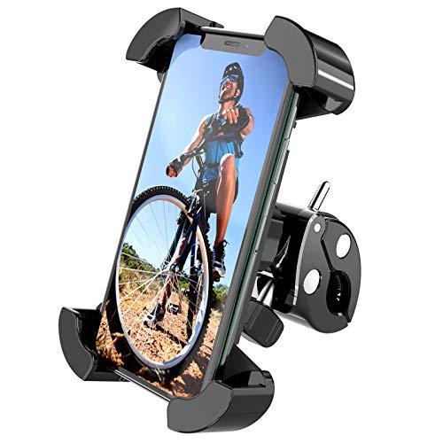 ANDOLO Soporte Móvil Bicicleta, 360° Rotación Porta Telefono Bici,Soporte Manillar para iPhone 12/12 Pro Max y Otro 4,7-7'Smartphones