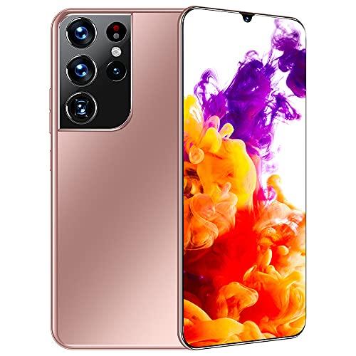 scosao Smartphone Dual Sim, Telefono Móvil Baratos Libres 16R GB RAM +512 GB ROM, Android 11Moviles 6.7' HD+ Pantalla Batería 6800mAh, Cámara 32MP+50MP, Face ID,Pink