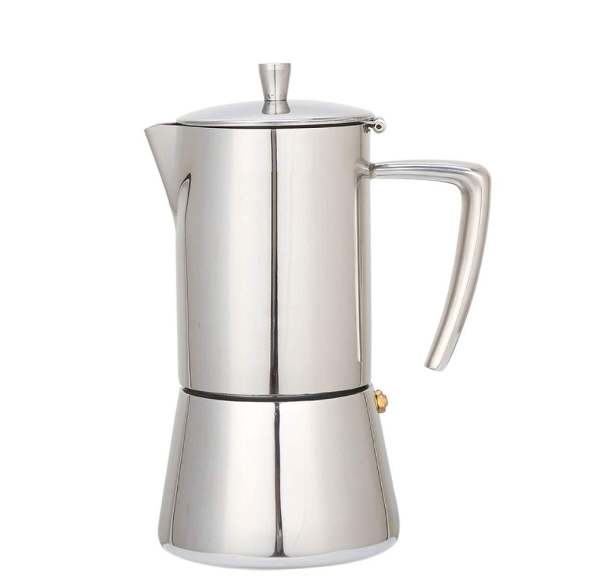 Cafetera, Cafetera Acero Inoxidable Utensilios De Café Italiano Extracción Concentrado Mocha Cafetera Para El Hogar (6 Tazas): Amazon.es: Hogar