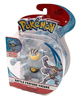 WCT Wicked Cool Toys Pokemon Figure Action MACHAMP 10cm Battle Figure Original por WCT Wicked Cool Toys