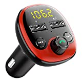 Ulocool Handsfree Call Car Kit,Wireless Bluetooth FM Transmitter,Radio Receiver,Mp3 Music Stereo Adapter,Dual USB Port Car Charger Compatible for All Smartphones,Samsung Galaxy,LG,HTC,etc.
