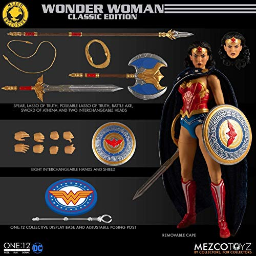 Mezco Toys One: 12 Collective DC Wonder Woman Classic Edition Action Figure