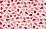 Qualitativ hochwertiger Jersey Stoff Streifen in Rosa/Ecru