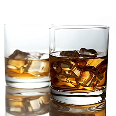 Whiskey Glasses ,Bar glasses,Whiskey cups,Premium 11 oz Scotch Glasses /Rum glasses /Old Fashioned Whiskey Glasses / Perfect Gift For Scotch Lovers /Style Glassware for Bourbon (6-packs)