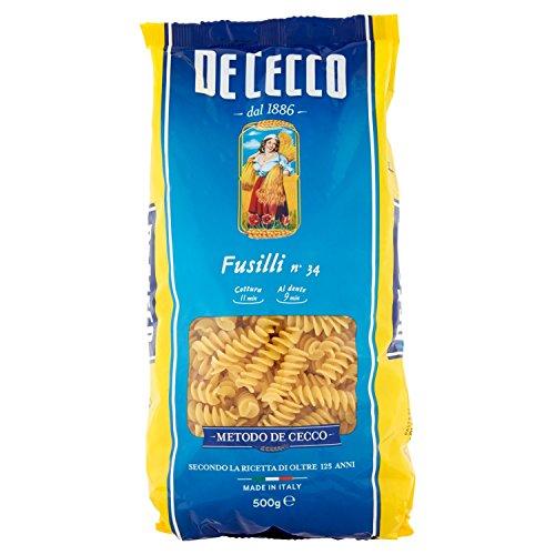 De Cecco - Fusilli 34, Pasta di semola di Grano duro - 500 g