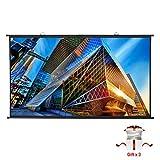 Écran de Projecteur Portable PVC 4K HD 221x125cm 100 Pouces Diagonale 16:9 Gain...