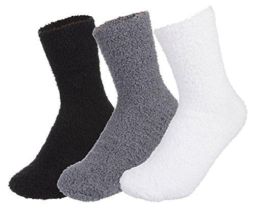 EOZY 3 Paar Unisex Winter Socken Damen Herren Warme Dicke Kuschelsocken