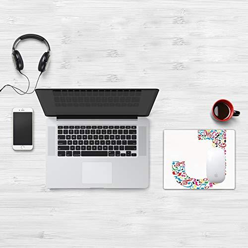 Tappetino per Mouse Gaming (320x250 mm),Lettera J, J Tipografia in Artful Design Note Musicali Stile Grafico ABC Font Lingua Tema, Multic,Impermeabile, Gomma Antiscivolo, Adatto per Gaming e Ufficio