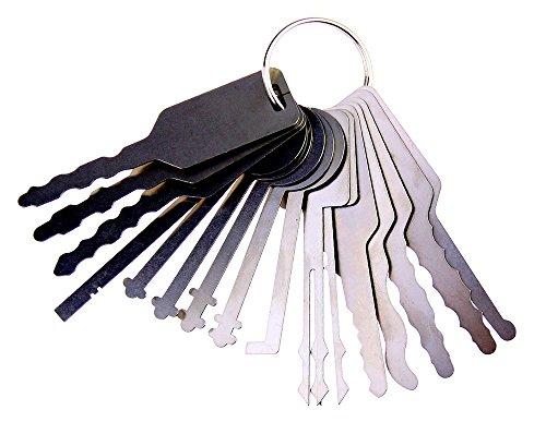 Dbh coche Jiggler juego de ganzúas, llave maestra para Auto, coche cerradura Pick llaves