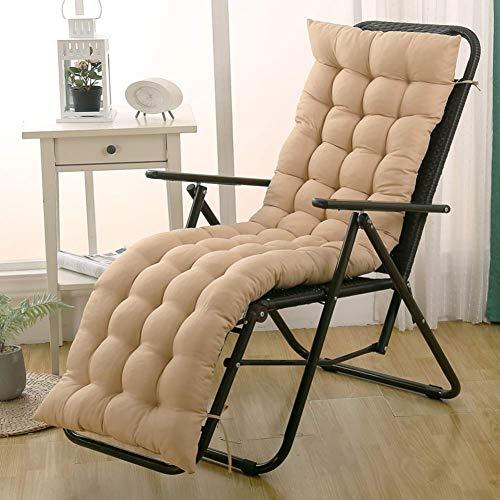 eewopjkj Inomhus utomhus solstol kudde uteplats gungstol kudde halkfri tvåsits soffa kudde mjuk sittkudde för schäslong stol beige 48 x 153 cm (19 x 60 tum)