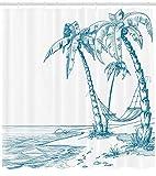 /N Palmeras Tropicales y Hamaca Hawaiian Relax Image Print