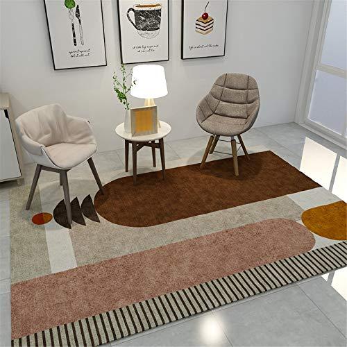 MMHJS Tappeto Rettangolare Grande in Stile Europeo Semplice per La Casa Adatto per Soggiorno E Studio 120x160cm