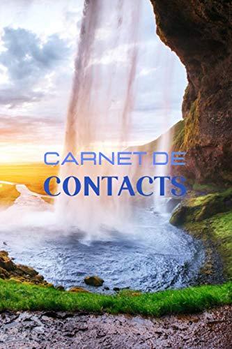Carnet de contacts: Format moyen| carnet de contacts par section| répertoire téléphonique original| carnet d'adresses et de courriels| sauvegarde informatique| carnet de contacts nature