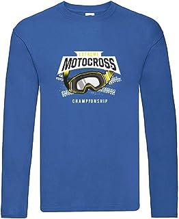 Camiseta de manga larga – Gafas de motocross, de manga larga, unisex, para niños y niñas