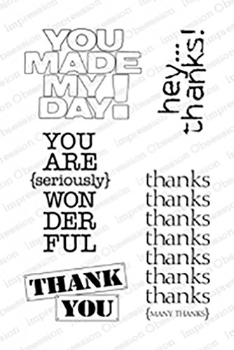 Impression Obsession IO You Made My Day Clear Cling Stamp Set CL545